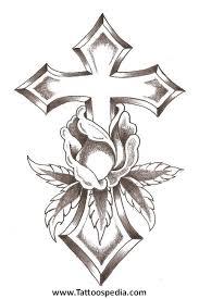 cross tattoos roses 5