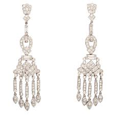 gold chandelier earrings dangling diamond gold chandelier earrings for sale at 1stdibs