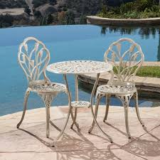 Nassau Outdoor Furniture by Nassau Sand Bistro Set By Christopher Knight Home Free Shipping