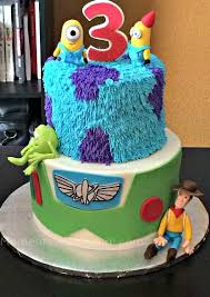 story birthday cake the story plus monsters inc plus despicable me birthday cake