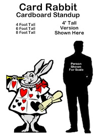 card rabbit cardboard cutout standup prop in