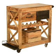 rolling solid wood and iron wine rack cabinet serving cart rustic rolling solid wood and iron wine rack cabinet serving cart