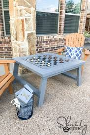 Outdoor Checker Table Made From 18 Diy Outdoor Yard For Backyard For