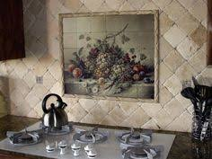 Kitchen Backsplash Tile Patterns Beautiful Backsplash Murals - Tuscan kitchen backsplash ideas