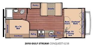 coachmen class c motorhome floor plans 2018 gulf stream conquest 6238 u2013 stock cq18006 the rv man