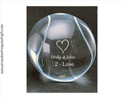 Personalized Paper Weight Gifts Tennis Ball Personalized Crystal Paperweight