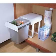 poubelle de cuisine sous evier poubelle coulissante monobac sous évier accessoires de cuisines