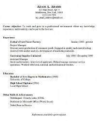 A Example Of A Resume by Basic Resume Generator Middletown Thrall Library