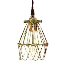 wire light bulb cage wire light bulb cage minimalist polished brass cage pendant with