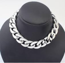 big chain necklace silver images 2018 big thick chain necklace simple silver big necklace punk jpg