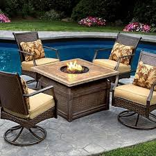 Firepit Set Savona Chat Set With Firepit 5 Pc Sam S Club