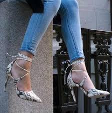 designer stiletto heels designer gery snakeskin lace up high heel pumps pointed toe