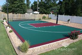Outdoor Basketball Court Cost Estimate by Backyard Courts Gallery Sport Court For The Home