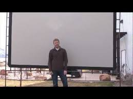 Backyard Projector Screen by How To Set Up Your Outdoor Big Screen 144 Camp Chef Youtube