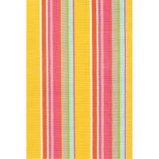 Stripe Outdoor Rug Indoor Outdoor Rug In Happy Yellow Outdoor Rugs Cuckooland