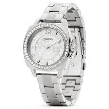 crystal bracelet watches images Lyst coach mini boyfriend stainless steel crystal bracelet watch jpeg