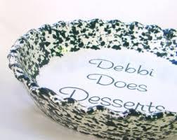 personalized pie plate beige spongeware pie plate personalized pie plate