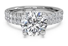 cut set band engagement ring in platinum 0 59 ctw - Band Engagement Ring