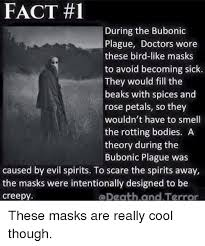 plague doctor s mask fact 1 during the bubonic plague doctors wore these bird like