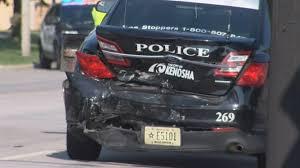 kenosha police squad involved in three car crash