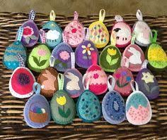felt easter eggs ridiculously made felt easter tree ornaments maybe