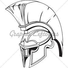 spartan helmet illustration gl stock images