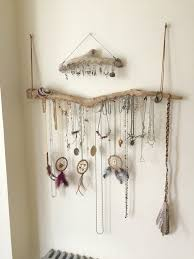 necklace storage display images Driftwood jewelry display wall mounted jewelry organizer necklace jpg