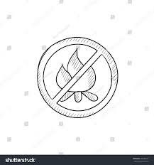 no fire sign vector sketch icon stock vector 432029671 shutterstock