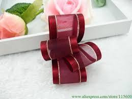 sheer organza ribbon 2018 38mm wide satin edge sheer organza ribbon with gold line for