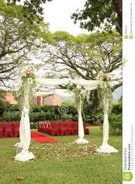 wedding arch garden garden wedding arch decoration stock photo image 55669579