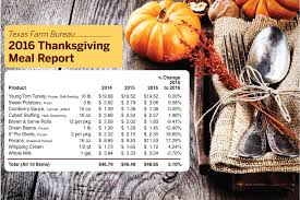 thanksgiving dinner to cost texans more this year farm