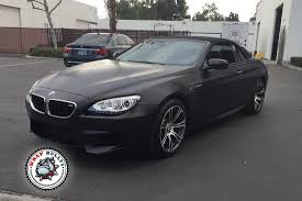 custom bmw m6 bmw m6 satin black car wrap wrap bullys