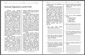 railroads regulations and the tariff free printable american