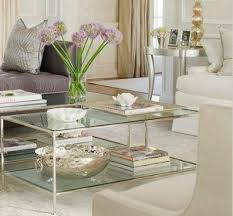 Glass Rectangle Coffee Table Gold And Glass Coffee Table