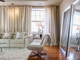 Apartment Decorating Ideas HGTV - Curtains for living room decorating ideas