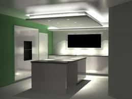 plafond cuisine design un faux plafond en placo avec spot et ruban led intégrés placo