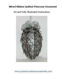 folded fabric quilted pinecone ornament kit and pattern no sew