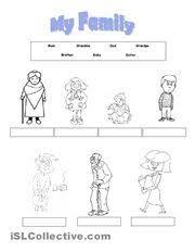 my family themed worksheets for kindergarten my family