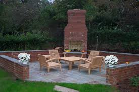 brick outdoor corner fireplaces ideas creative design relax