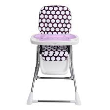 Evenflo High Chair Cover Replacement Pattern by Amazon Com Evenflo Compact Fold High Chair Polka Dottie Purple
