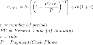 Ordinary Annuity Table Solve For Number Of Periods On Annuity Pv Formula And Calculator
