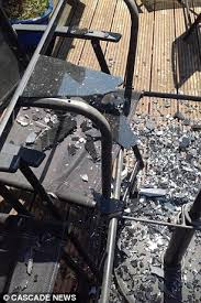 asda glass patio table u0027exploded into a million pieces when left