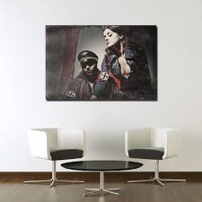 dark history evil military soldier poster canvas art for