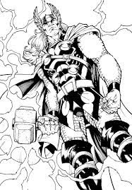 Coloriage Thor à imprimer sur COLORIAGES info