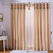 Curtains For Brown Living Room Brown Living Room Curtain With White Line Pattern Design