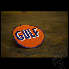 gulf racing logo gulf oil patch vintage motorcycle patch
