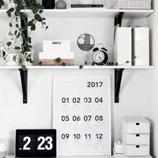 Black And White Desk Accessories Work Space Reveal