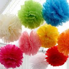 Yellow Pom Pom Flowers - 20 best tissue pom poms images on pinterest tissue paper poms