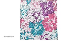 shower curtains teal and purple shower curtain unique floral