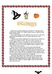 halloween reading comprehension activities